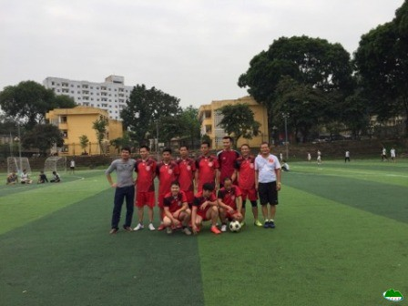 Men's semifinal football match for officials and laborers of the Vietnam National University of Forestry on 24/10/2017