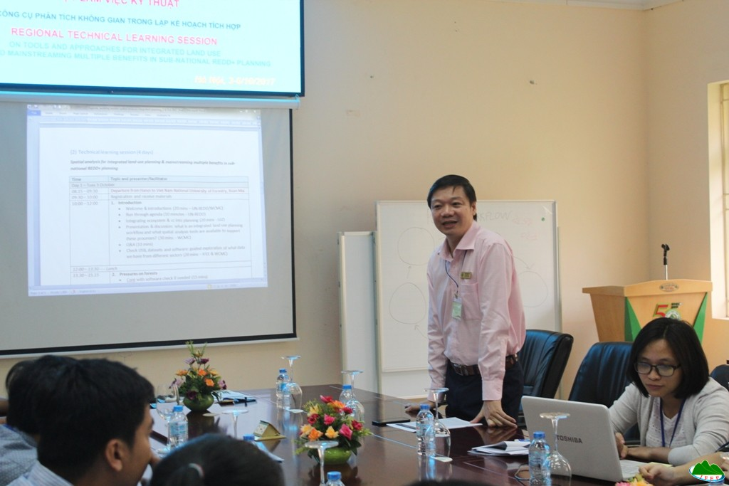 Assoc. Prof. Tran Quang Bao expressed to start working session