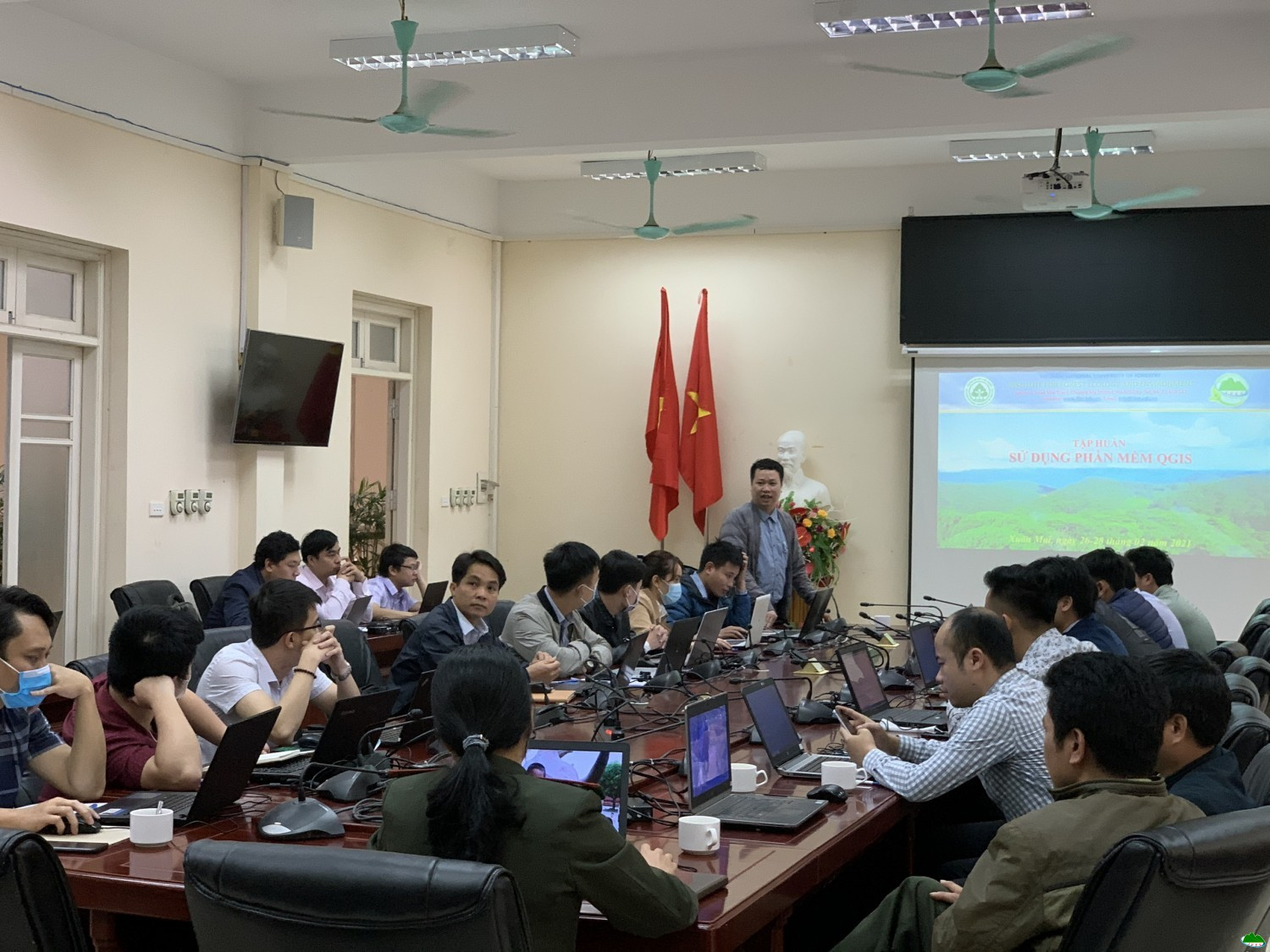Training course on Using QGIS in Forestry management